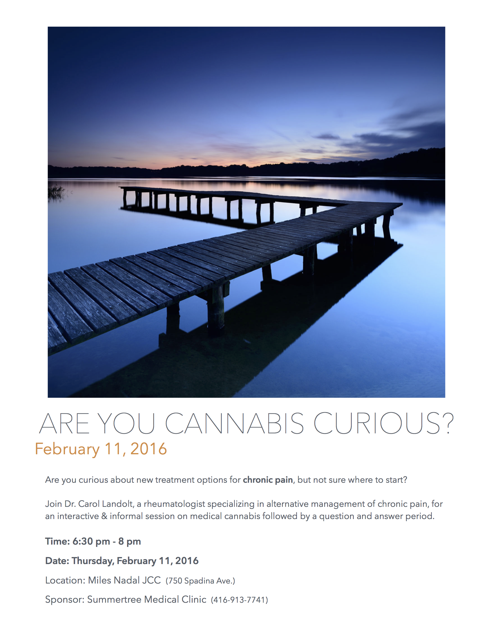 Cannabis Curious Info Session Poster